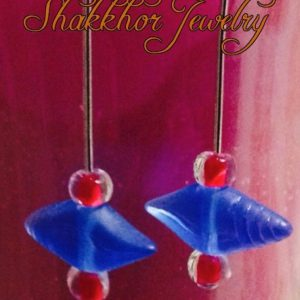 Blue sea-shell earrings