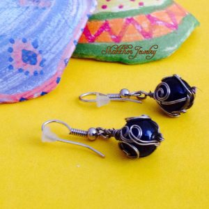 Glass Marble Earrings