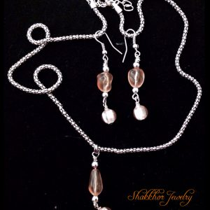 Pink glass jewelry