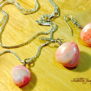 Pink sea-shell jewelry
